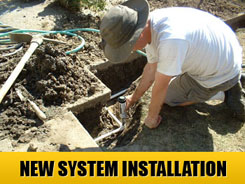We cover new irrigation system installations